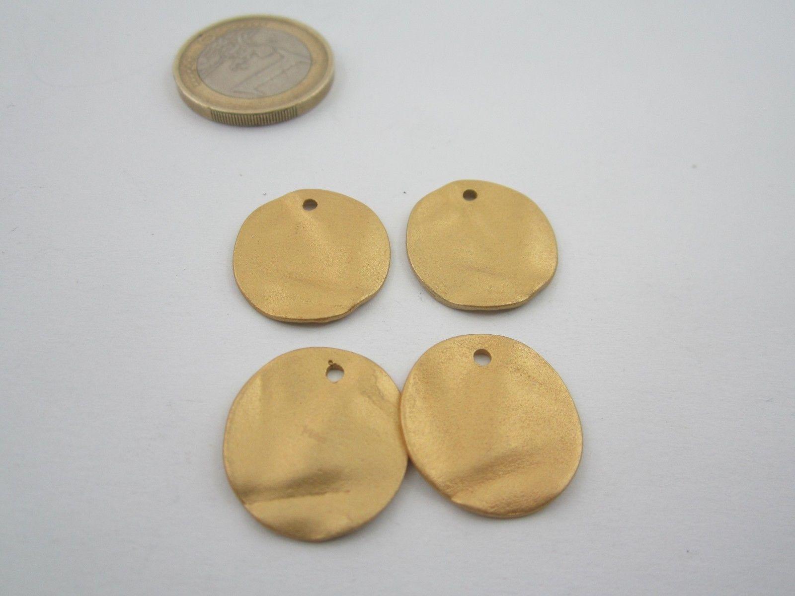 2 basi x orecchini zama stella marina placcato oro giallo satinato di 24 x 22 mm
