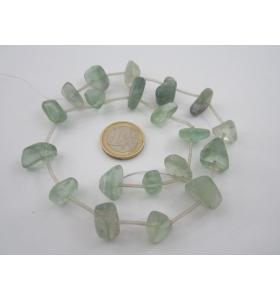 1 filo di fluorite naturale burattata forme e misure irregolari 20pezzi