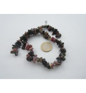 1 filo di chips grandi in tormalina naturale qualità A++ lungo 40 cm 90 pietre