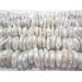 1 filo di perle grandi australiane grezze tondeggianti piatte con foro in mezzo