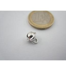 1 ciondolo charms campanellino in argento 925 rodiato di 8x6 mm made in italy