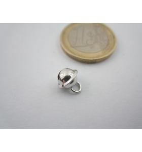 1 ciondolo charms campanellino 8x6 mm argento 925 bianco