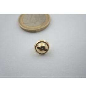 1 ciondolo charms campanellino in argento 925 placcato oro giallo 8x6 mm italy