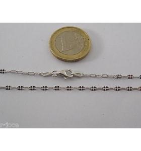 catenina modello mimì molto lunga 84 cm in argento 925 rodiato made in italy