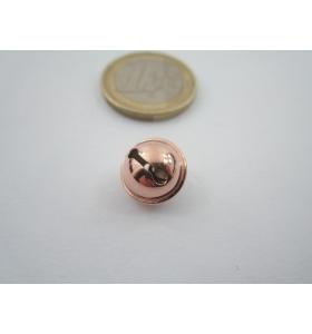 1 ciondolo charms campanellino in argento 925 placcato oro rosso 11x9 mm italy