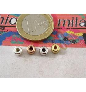 DISCHETTI IN ARGENTO 925 DELLA MISURA DI 5X3 MM DISPONIBILI IN  4 COLORI ITALY m