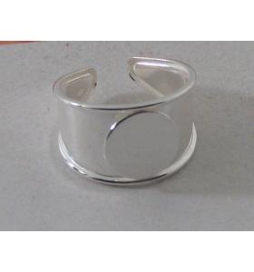 base anello in lastrina argento 925 la base è aperta