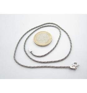 catenina lunga 40 cm argento 925 sterling modello cordino spessore mm. 1,2