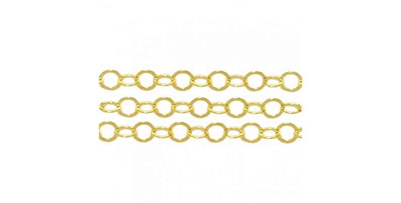 -Catene argento dorato