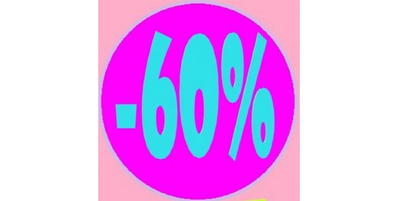 Promozioni sconto 60%